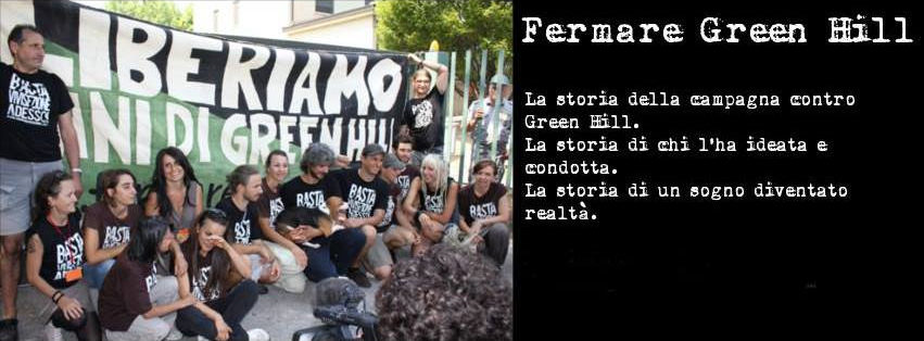 """Fermare Green Hill"": presentazione libro + cena di beneficienza"